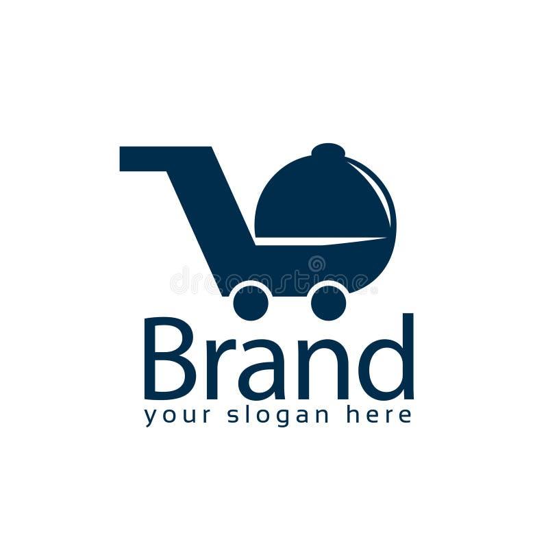 Πρότυπο λογότυπων αποθεμάτων εστιατορίων γρήγορου φαγητού Επίπεδο λογότυπο editable r απεικόνιση αποθεμάτων