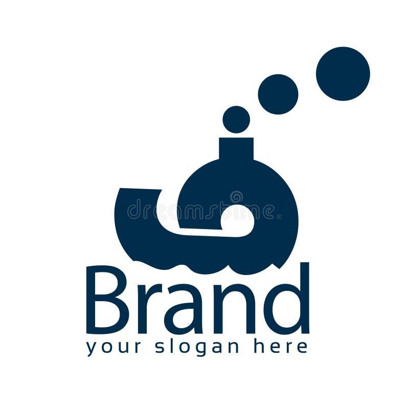 Πρότυπο λογότυπων αποθεμάτων σκαφών Επίπεδο λογότυπο editable r ελεύθερη απεικόνιση δικαιώματος