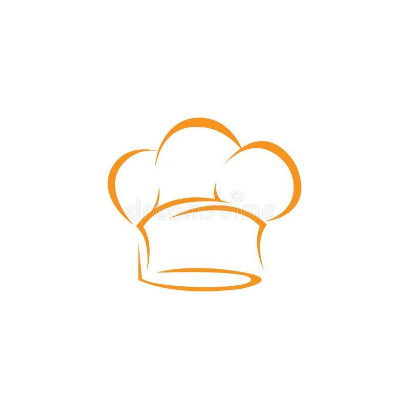 Πρότυπο λογότυπων αρχιμαγείρων καπέλων ελεύθερη απεικόνιση δικαιώματος