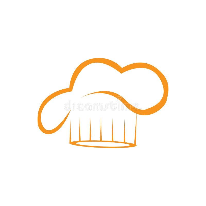 Πρότυπο λογότυπων αρχιμαγείρων καπέλων διανυσματική απεικόνιση
