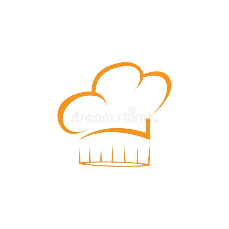 Πρότυπο λογότυπων αρχιμαγείρων καπέλων απεικόνιση αποθεμάτων