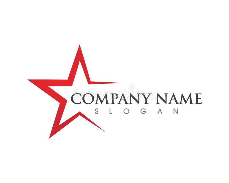 Πρότυπο λογότυπων αστεριών απεικόνιση αποθεμάτων