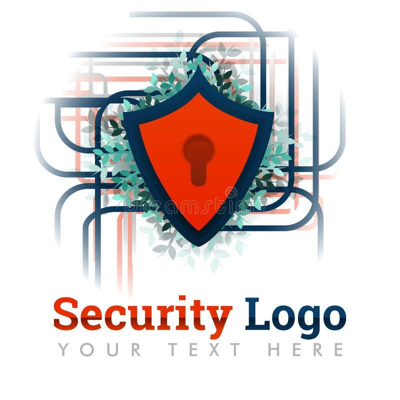 Πρότυπο λογότυπων ασφάλειας για την προστασία δικτύων, ασφαλές Διαδίκτυο, σε απευθείας σύνδεση, ηλεκτρονικό εμπόριο, φιλοξενία, σ απεικόνιση αποθεμάτων