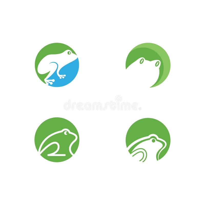 Πρότυπο λογότυπων βατράχων απεικόνιση αποθεμάτων