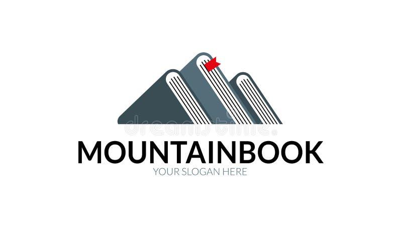 Πρότυπο λογότυπων βιβλίων βουνών διανυσματική απεικόνιση