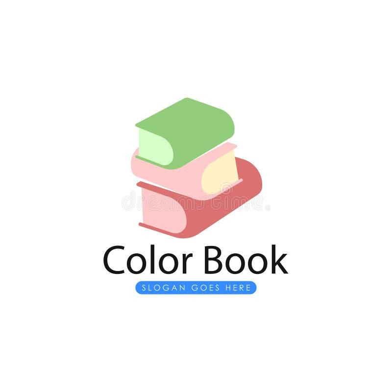 Πρότυπο λογότυπων βιβλίων Διάνυσμα λογότυπων βιβλίων ελεύθερη απεικόνιση δικαιώματος