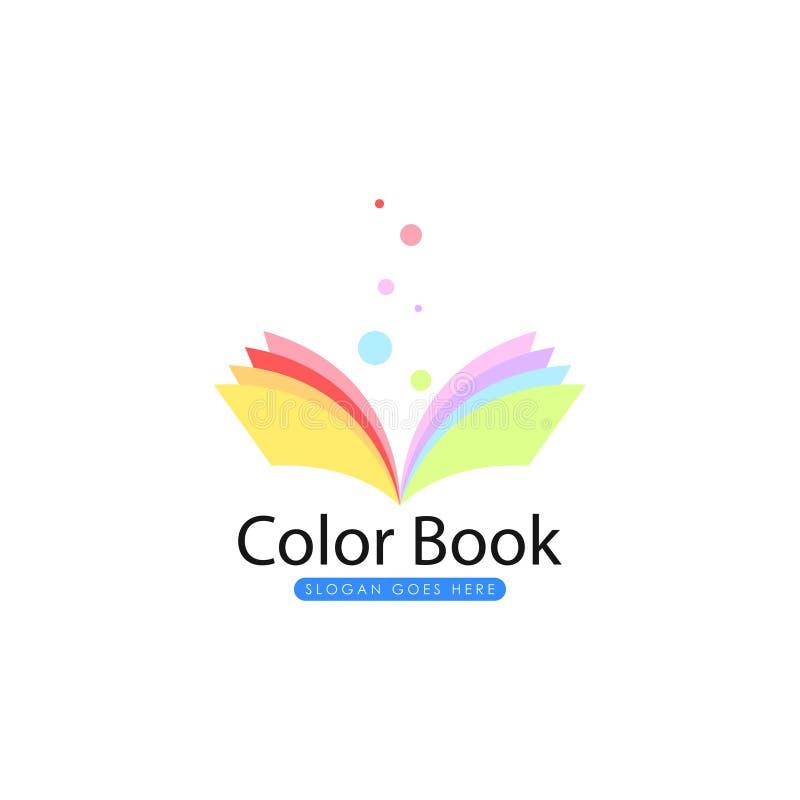 Πρότυπο λογότυπων βιβλίων Διάνυσμα λογότυπων βιβλίων διανυσματική απεικόνιση