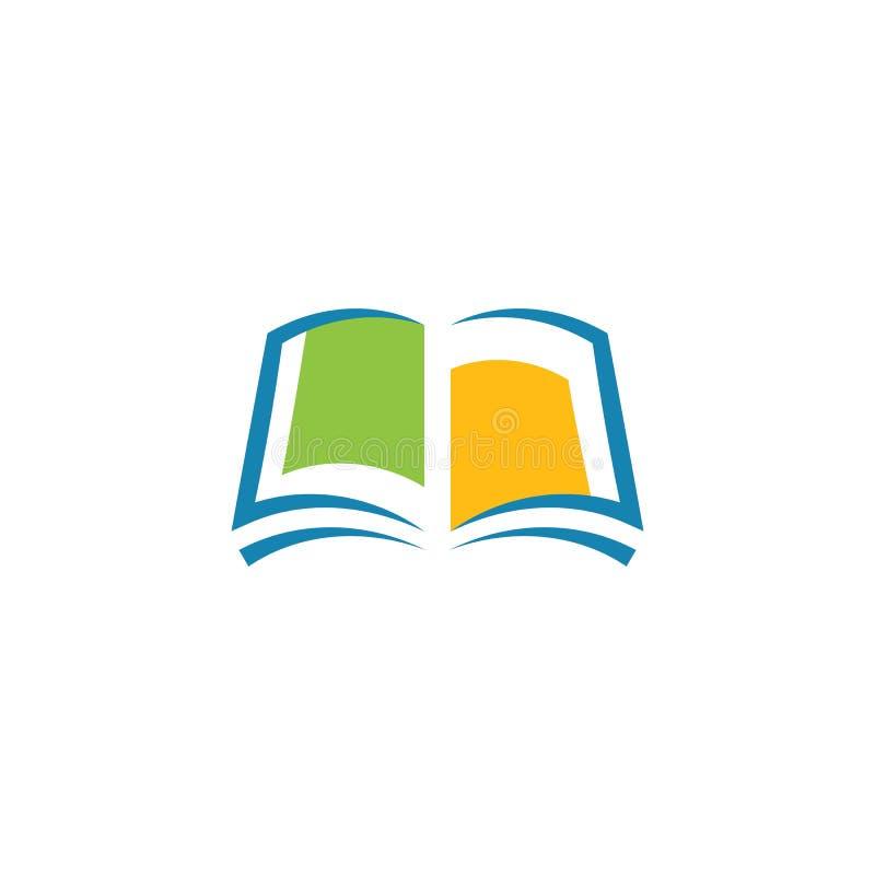 Πρότυπο λογότυπων βιβλίων ελεύθερη απεικόνιση δικαιώματος