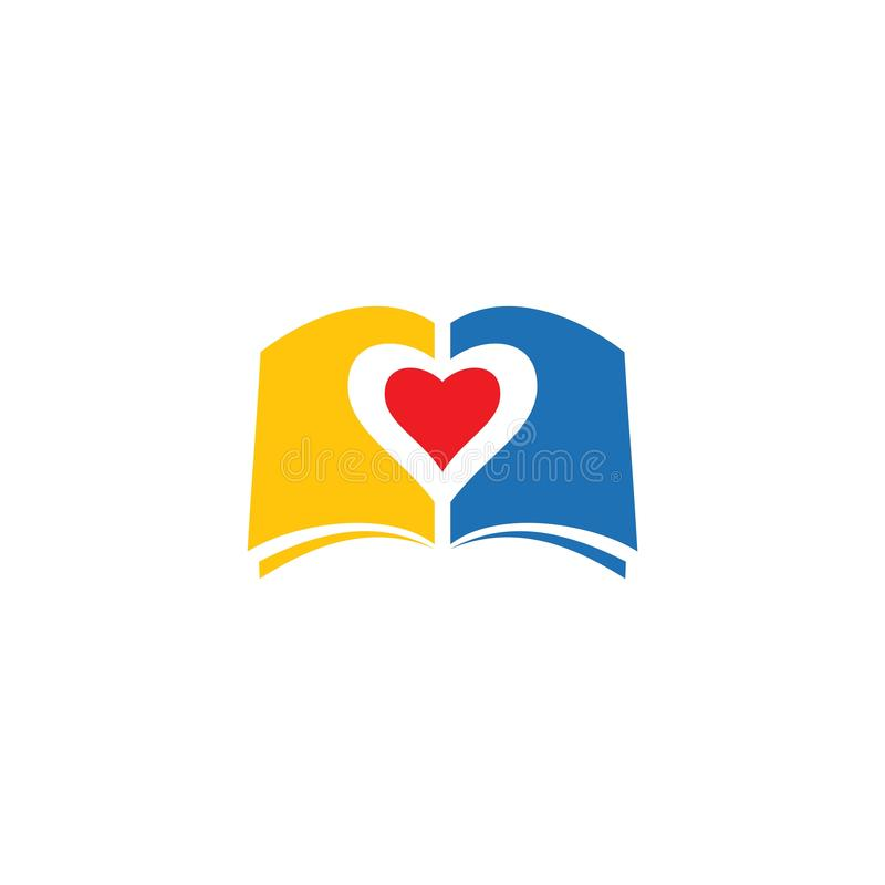 Πρότυπο λογότυπων βιβλίων διανυσματική απεικόνιση