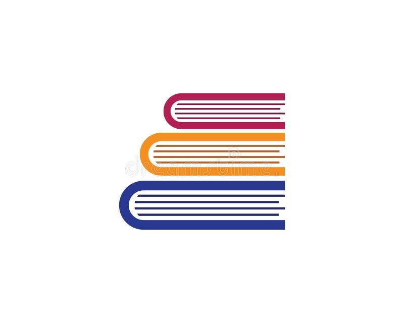 Πρότυπο λογότυπων βιβλίων εκπαίδευσης ελεύθερη απεικόνιση δικαιώματος