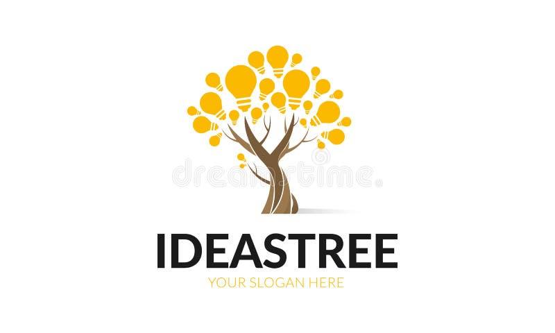 Πρότυπο λογότυπων δέντρων ιδεών απεικόνιση αποθεμάτων