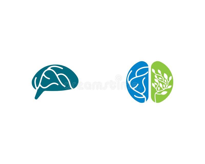 Πρότυπο λογότυπων εγκεφάλου διανυσματική απεικόνιση