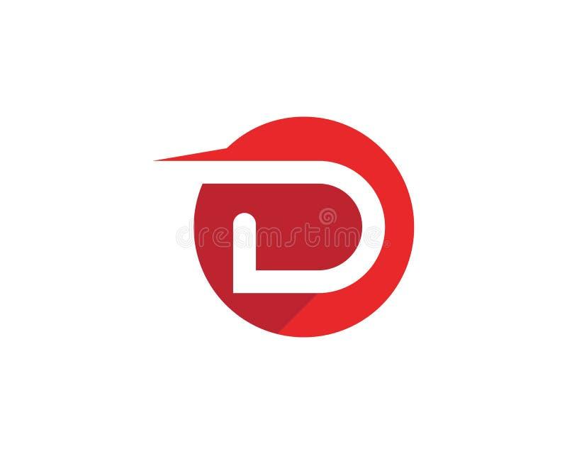 Πρότυπο λογότυπων επιστολών Δ διανυσματική απεικόνιση