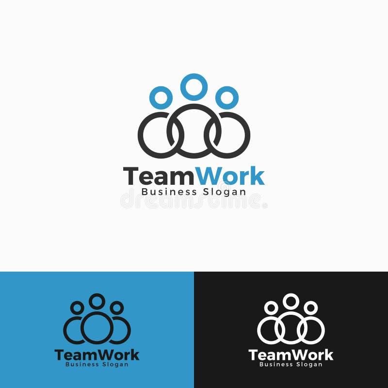 Πρότυπο λογότυπων εργασίας ομάδας απεικόνιση αποθεμάτων