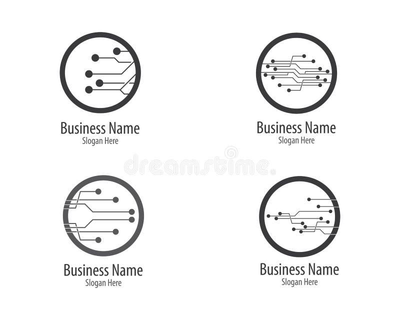 Πρότυπο λογότυπων κυκλωμάτων απεικόνιση αποθεμάτων