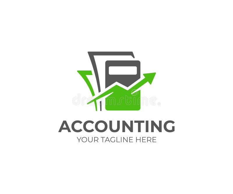 Πρότυπο λογότυπων λογιστικής Λογιστικό διανυσματικό σχέδιο απεικόνιση αποθεμάτων