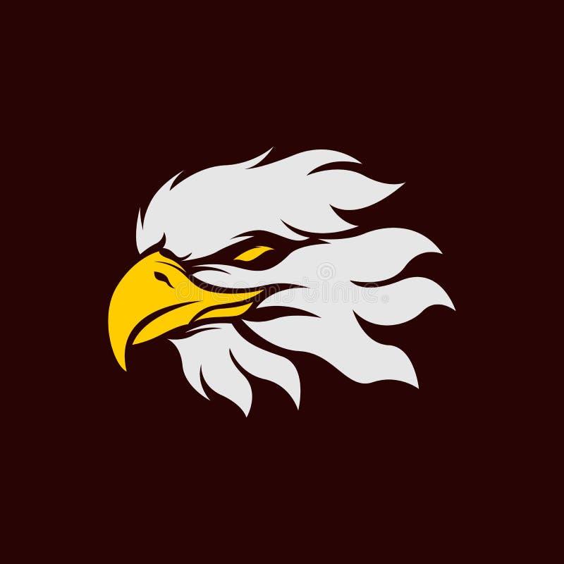 Πρότυπο λογότυπων μασκότ Esport αετών για την ομάδα τυχερού παιχνιδιού διανυσματική απεικόνιση