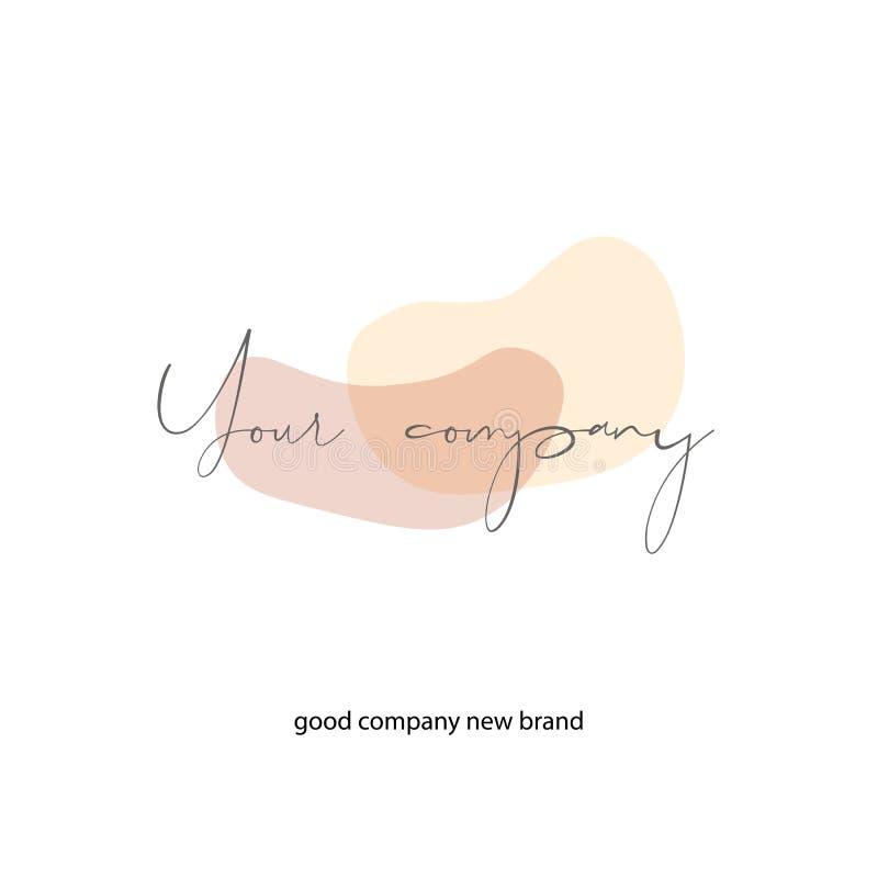 Πρότυπο λογότυπων με τις ελάχιστες μορφές κρητιδογραφιών Επιχείρηση που μαρκάρει τη δημιουργική ιδέα, στοιχεία σχεδίου διανυσματική απεικόνιση