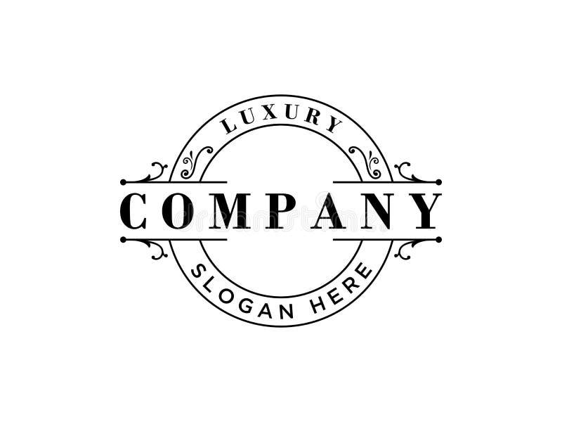 Πρότυπο λογότυπων πολυτέλειας στο διάνυσμα για το εστιατόριο, δικαίωμα, μπουτίκ, καφές, ξενοδοχείο, εραλδικό, κόσμημα ελεύθερη απεικόνιση δικαιώματος