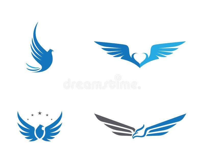 Πρότυπο λογότυπων πουλιών αετών γερακιών απεικόνιση αποθεμάτων