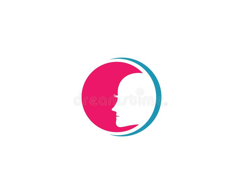 Πρότυπο λογότυπων προσώπου διανυσματική απεικόνιση