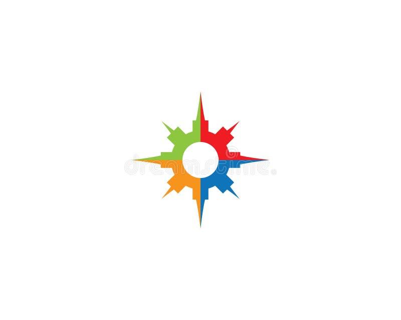Πρότυπο λογότυπων πυξίδων διανυσματική απεικόνιση