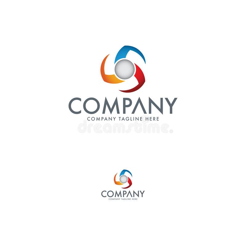 Πρότυπο λογότυπων τεχνολογίας Πρότυπο λογότυπων εξαεριστήρων απεικόνιση αποθεμάτων
