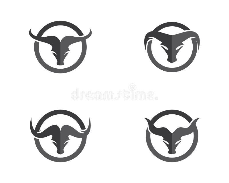 Πρότυπο λογότυπων του Bull διανυσματική απεικόνιση