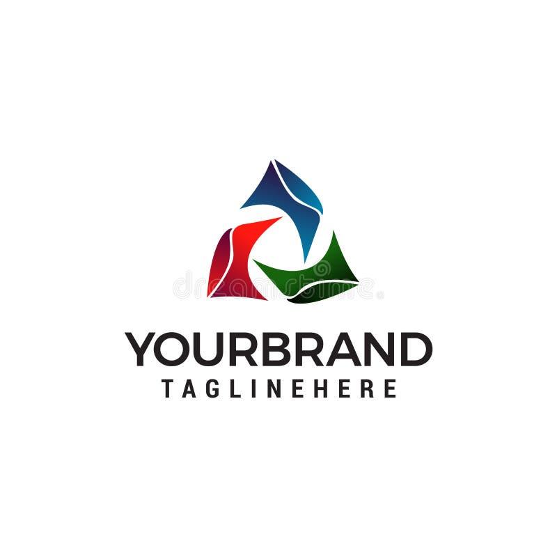 Πρότυπο λογότυπων τριγώνων ελεύθερη απεικόνιση δικαιώματος