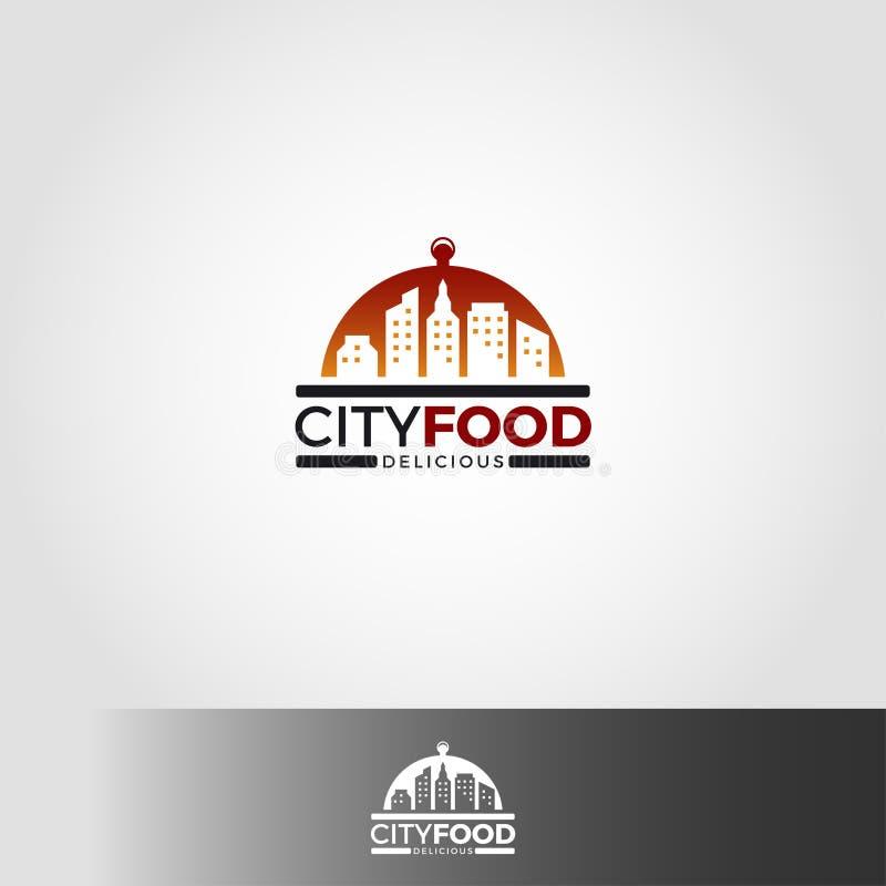 Πρότυπο λογότυπων τροφίμων πόλεων διανυσματική απεικόνιση