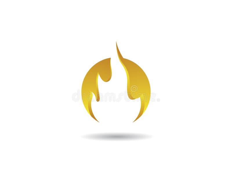 Πρότυπο λογότυπων φλογών πυρκαγιάς διανυσματική απεικόνιση