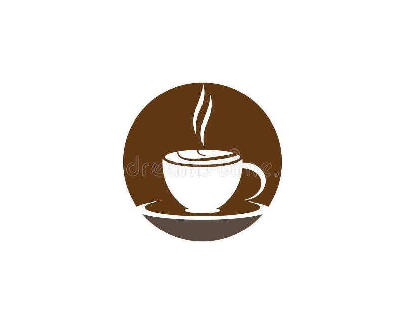 Πρότυπο λογότυπων φλυτζανιών καφέ απεικόνιση αποθεμάτων