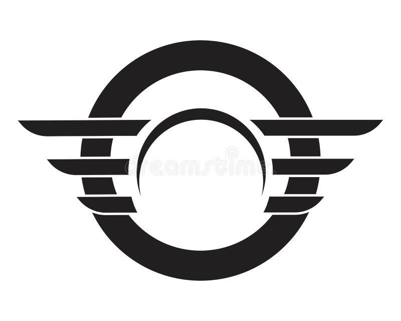 Πρότυπο λογότυπων φτερών - διάνυσμα ελεύθερη απεικόνιση δικαιώματος