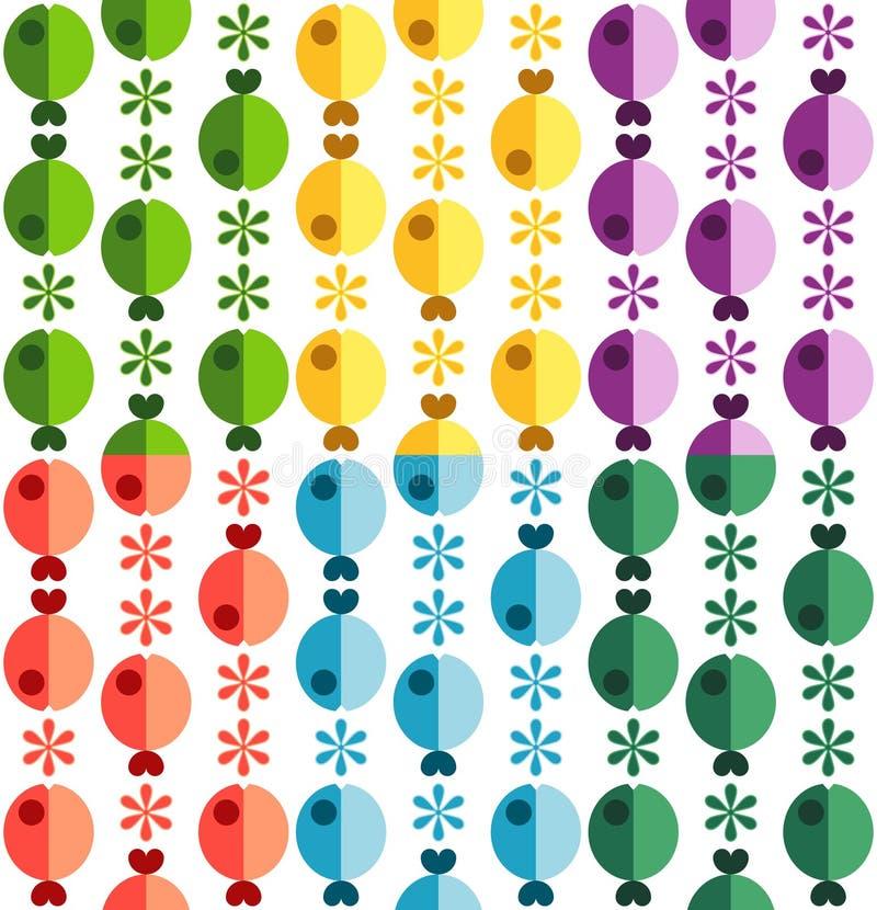 πρότυπο λουλουδιών ψαρ&iot απεικόνιση αποθεμάτων