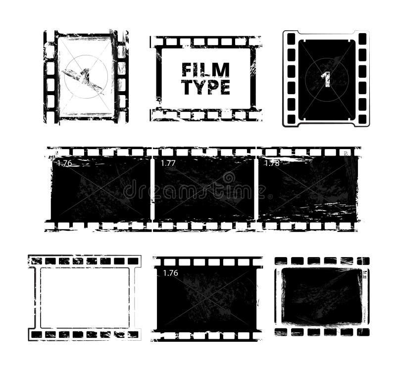 Πρότυπο λουρίδων ταινιών Οι διανυσματικές εικόνες απομονώνουν διανυσματική απεικόνιση