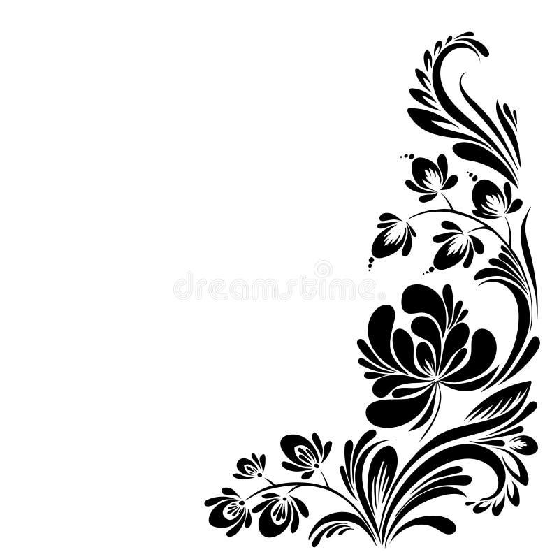 Πρότυπο με τα λουλούδια στοκ εικόνες