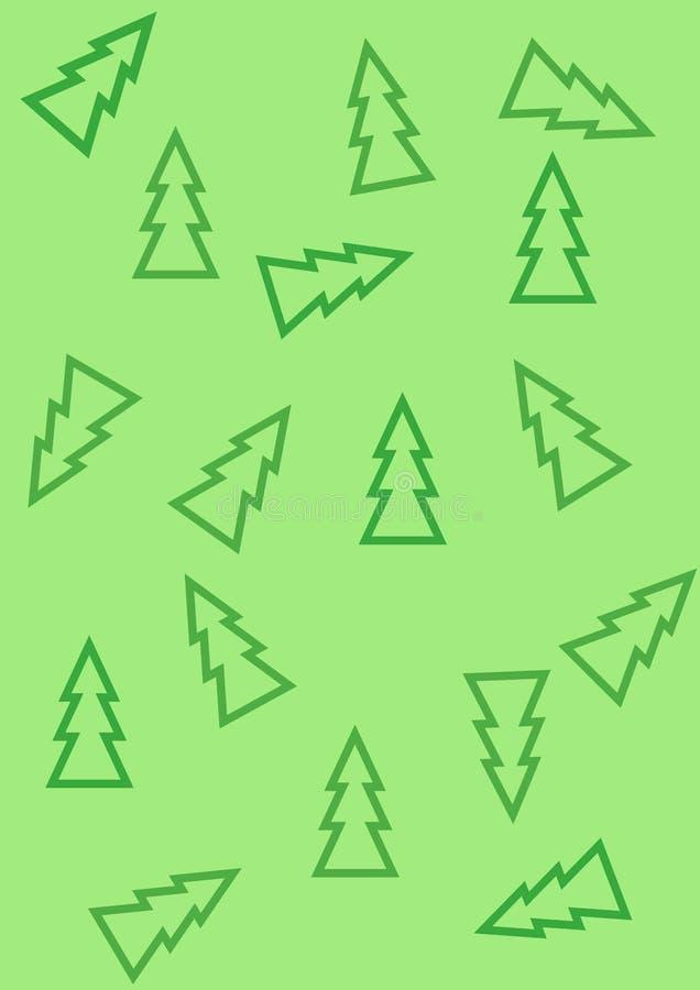 Πρότυπο με τα χριστουγεννιάτικα δέντρα διανυσματική απεικόνιση