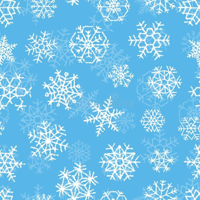 Πρότυπο με snowflakes διανυσματική απεικόνιση