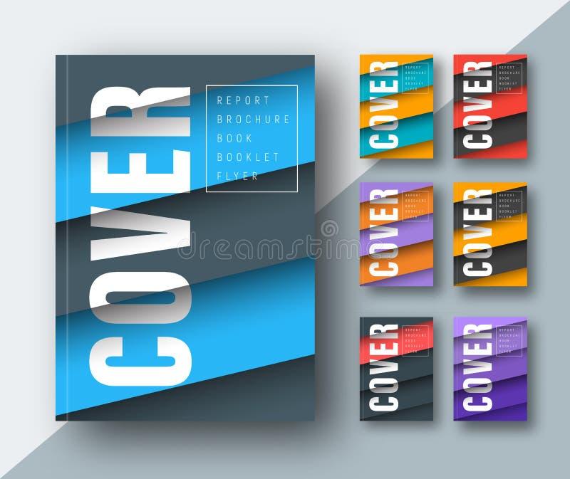 Πρότυπο μιας σύγχρονης κάλυψης με τα διαγώνια χρωματισμένα επιπλέοντα φύλλα διανυσματική απεικόνιση