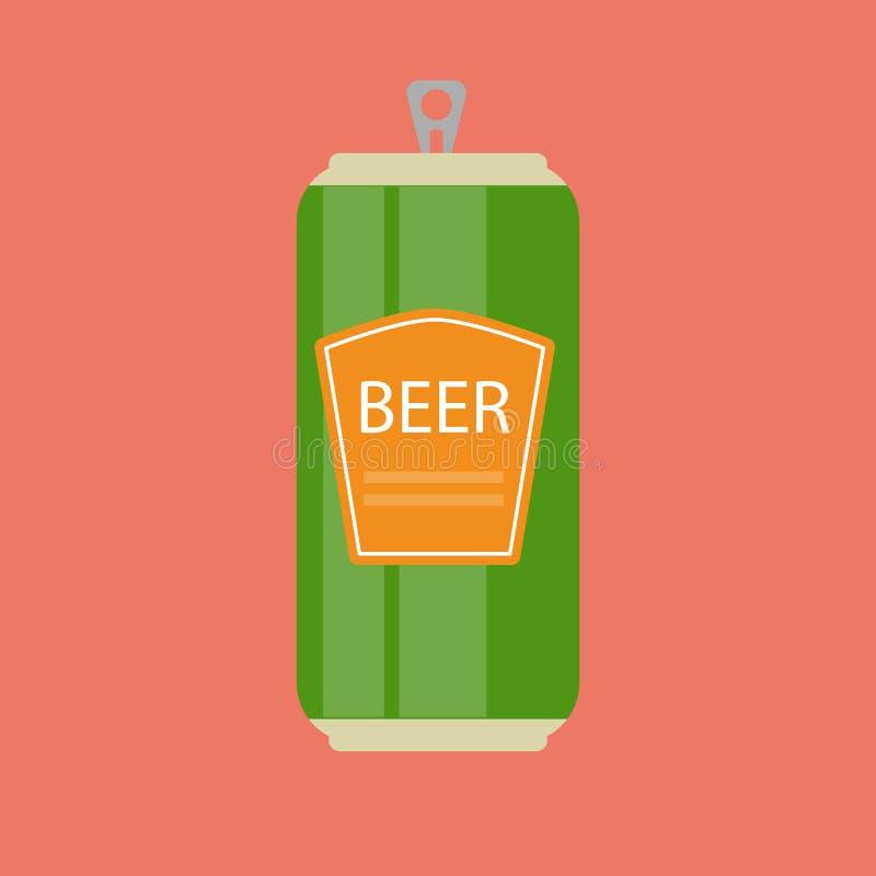 Πρότυπο μπουκαλιών μπύρας στο σύγχρονο επίπεδο εικονίδιο ύφους στο λευκό Materia απεικόνιση αποθεμάτων