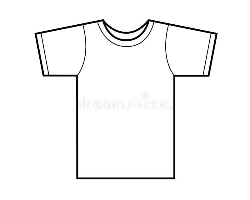 Πρότυπο μπλουζών απεικόνιση αποθεμάτων