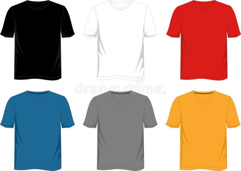 Πρότυπο μπλουζών διανυσματική απεικόνιση