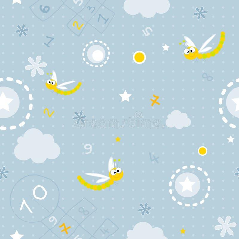 πρότυπο μωρών άνευ ραφής απεικόνιση αποθεμάτων