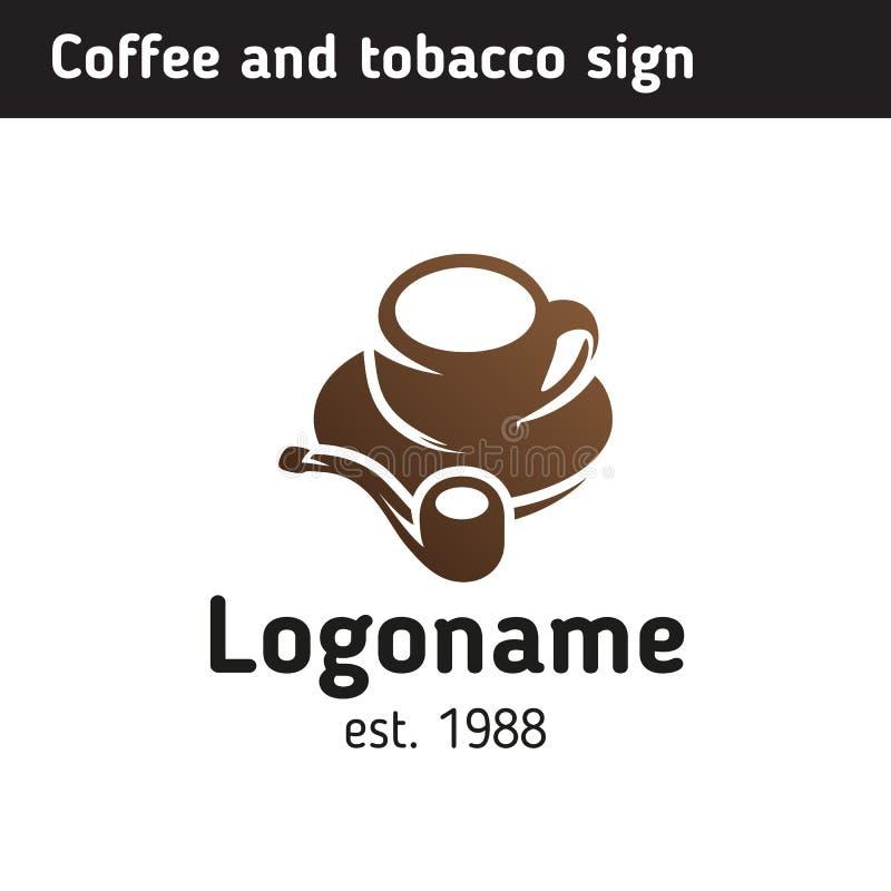 Πρότυπο λογότυπων για ένα σπίτι καφέ ελεύθερη απεικόνιση δικαιώματος