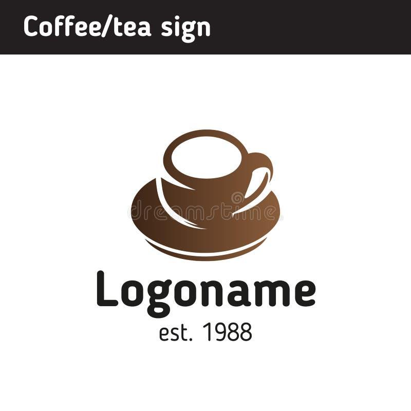 Πρότυπο λογότυπων για ένα σπίτι καφέ διανυσματική απεικόνιση
