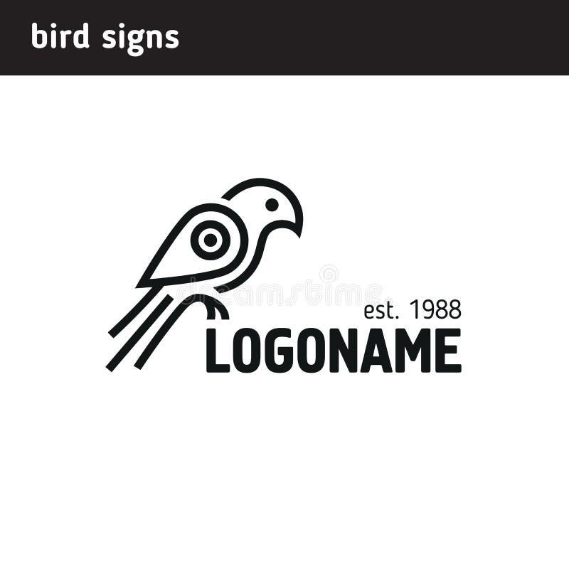 Πρότυπο λογότυπων ενός γερακιού με ένα φτερό υπό μορφή σημείου ελεύθερη απεικόνιση δικαιώματος