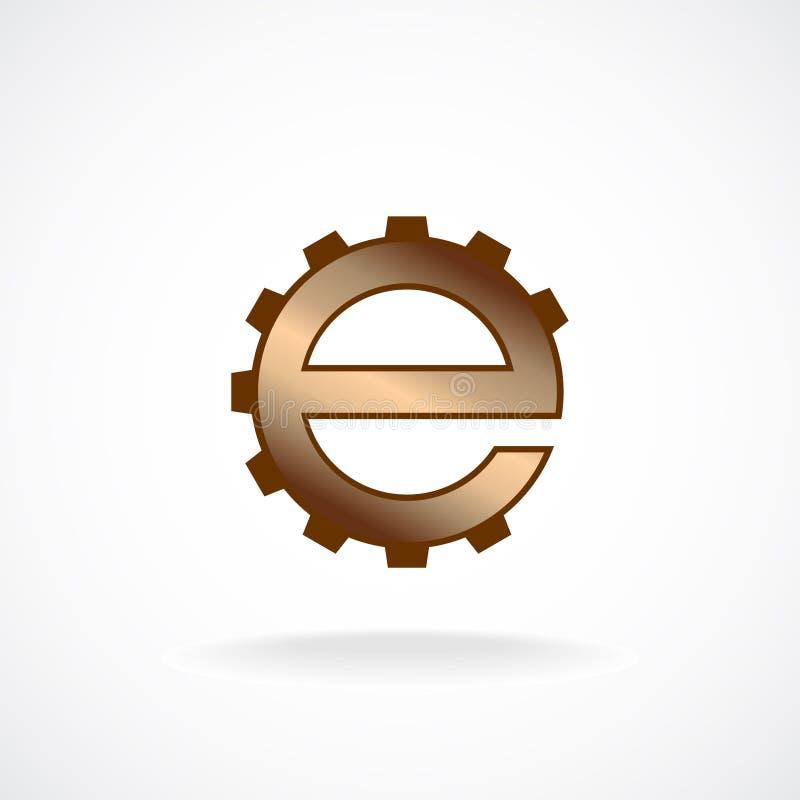 Πρότυπο λογότυπων επιστολών Ε διανυσματική απεικόνιση