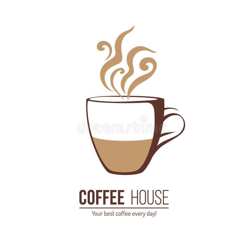 Πρότυπο λογότυπων καφέ διανυσματική απεικόνιση