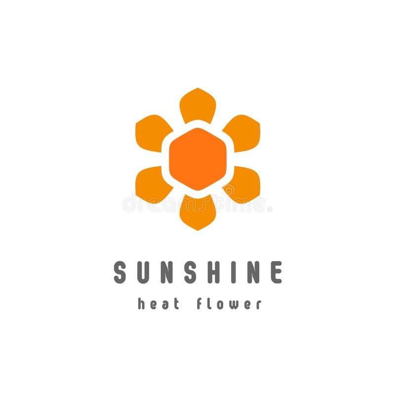 Πρότυπο λογότυπων λουλουδιών ηλιοφάνειας διανυσματική απεικόνιση