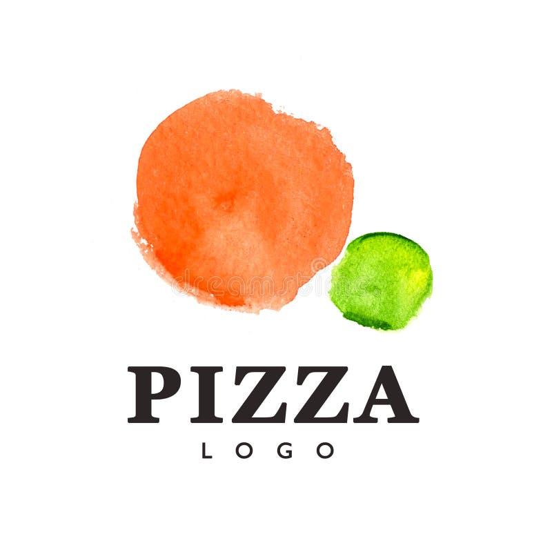 Πρότυπο λογότυπων πιτσών διανυσματική απεικόνιση